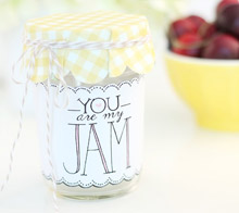 You are my jam jar label